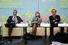 Photo of S. Scarpetta, M. Durand and G. Nicoletti at the GG-SD Forum 2014.